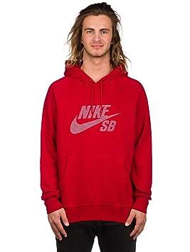 Nike SB Icon PO Stripe Hoodie Sudadera con Gorro, Hombre, Rojo (Gym Red/White), L: Amazon.es: Deportes y aire libre