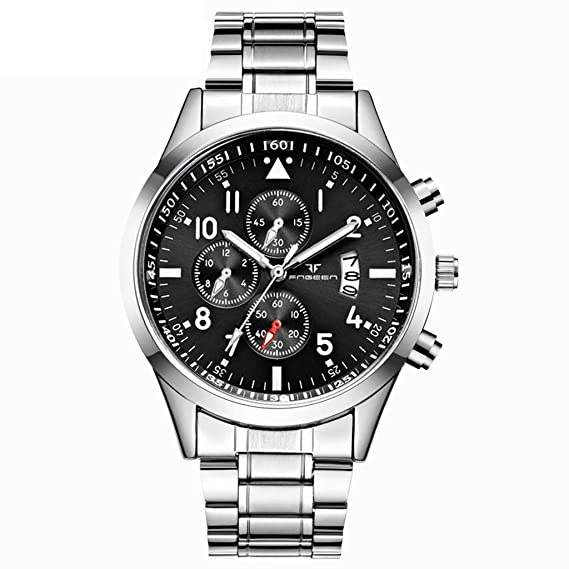 Amazon.com: FNGEEN Men Luxury Casual Watch Quartz Stainless ...