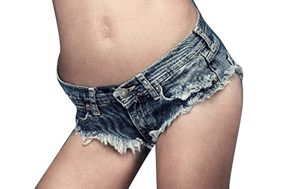 Short En Mini Basse Avec Glands Pantalon Taille Femmes Jeans exBodCr