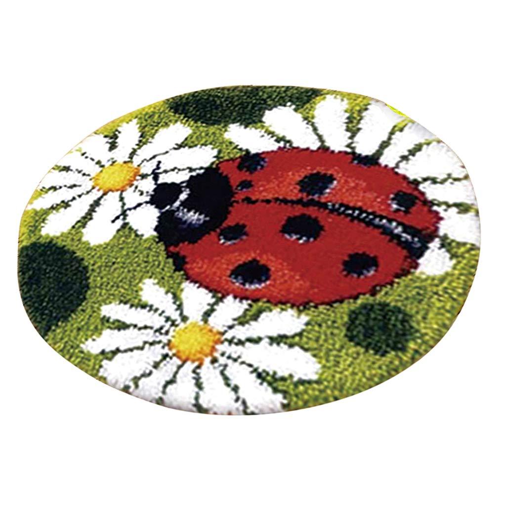 IPOTCH 2 St/ück Kn/üpfteppich Formteppich f/ür DIY Handarbeit Teppich mit sch/öne Bilder Marienk/äfer und B/är