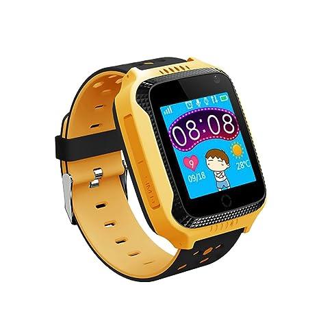 Docooler Niños Inteligente Reloj Teléfono para Localizador GPS Linterna de cámara incorporada Smartwatch con ranura para