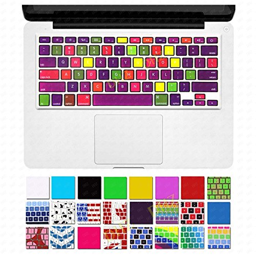DHZ¨ New Arrival Nine Color Chocolates Fabrics Texture Keyboard Cover Silicone Skin for MacBook Air 13