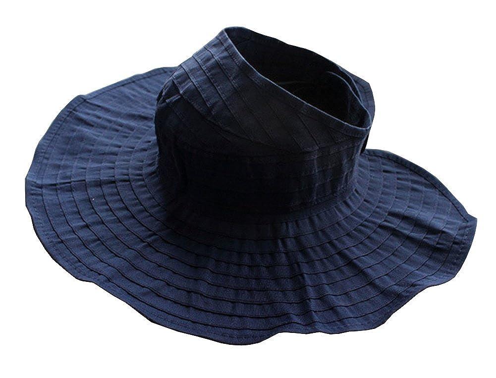 CHUNG Women Sun UV Protection Hat Top Open Packable Foldable Beach Travel Beige LZL-Wm-SunHat-Beige-F