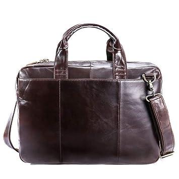 NSZPXKB Bolsa de Negocios Hombres Carteras Bolsos Tote Computer Bags para Documentos Messenger Bag Hombres Laptop Male Briefcase: Amazon.es: Deportes y aire ...