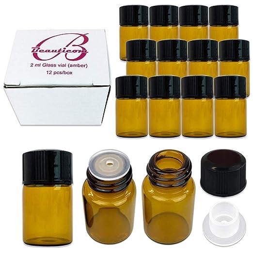 Bottle, Amber 2ML (5/8 Dram), Glass