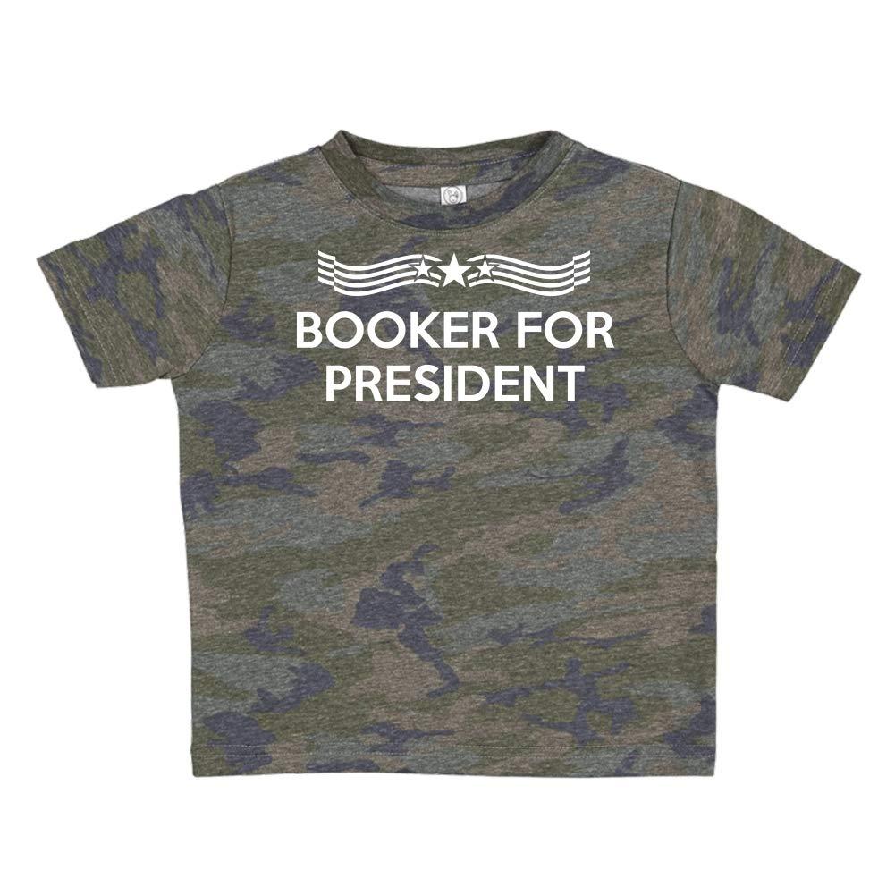 Star Banner Presidential Election 2020 Toddler//Kids Short Sleeve T-Shirt Booker for President