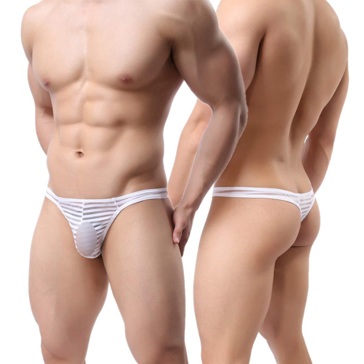 MuscleMate UltraHot Men's See Through Thong Underwear, Men's G-String Thong, Top Quality Men' s G-String Thong