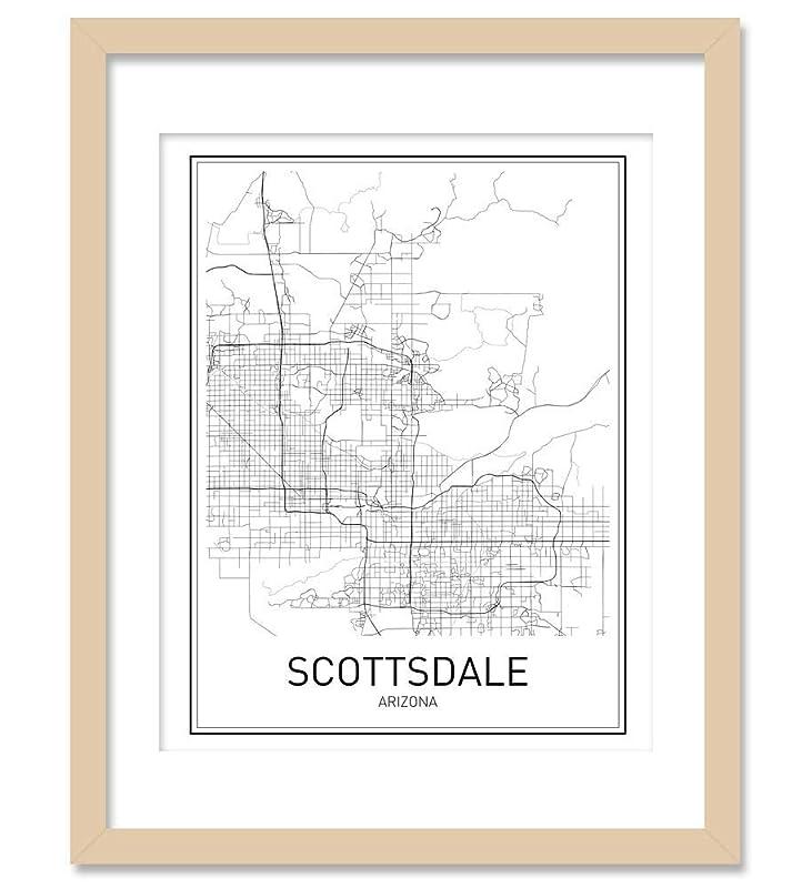 gift for son Printable city street road map Scottsdale Map Print Arizona AZ USA Map Art Poster NP168 City wall art