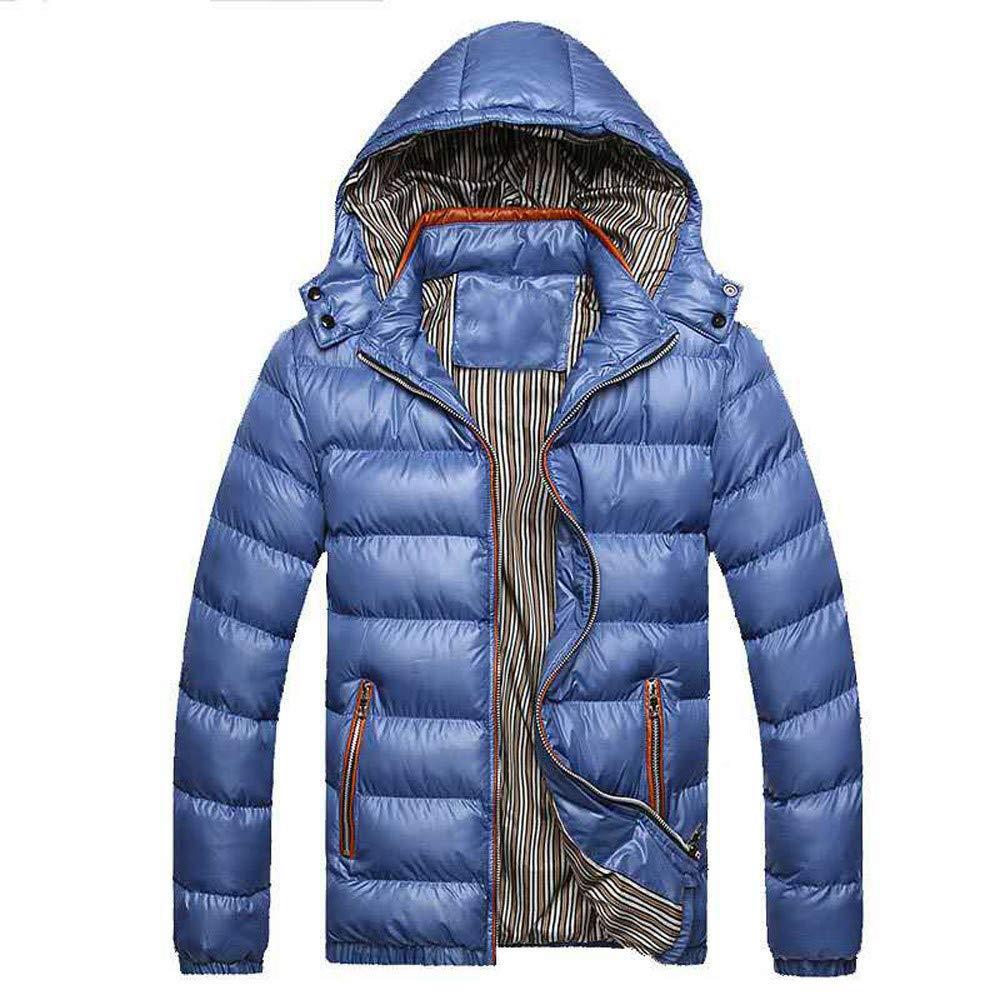 Bealeuy Herren Winterjacke Herrenjacke Jacke Steppjacke Mit Kapuze Herren Wintermü tze Abnehmbare Baumwolle Jacke Verdickung Warm Cotton Padded Coat
