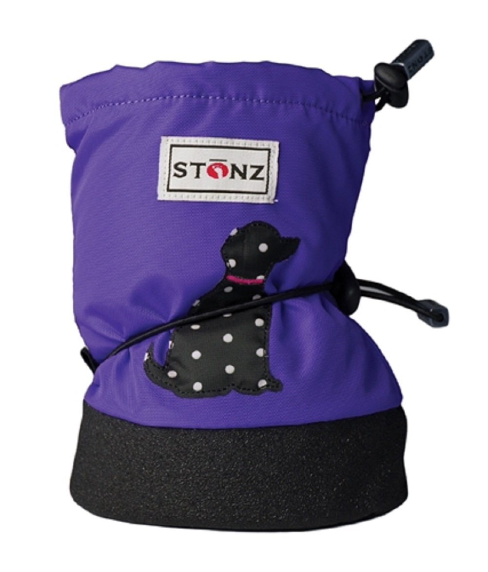 Stonz Three Season STAY-On Baby Booties, For Bare Feet or Shoes, For Mild or Cold Snow Weather (Unisex Infant/Toddler) STONZ-BOOTIES