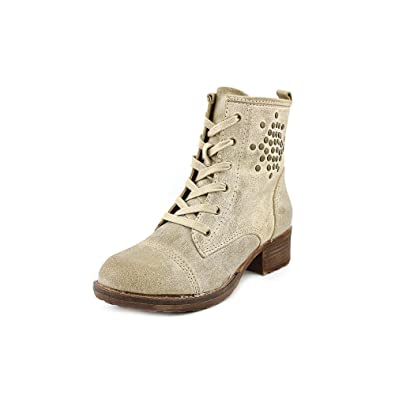 Bare Traps Womens Tifany Round Toe Ankle Combat Boots