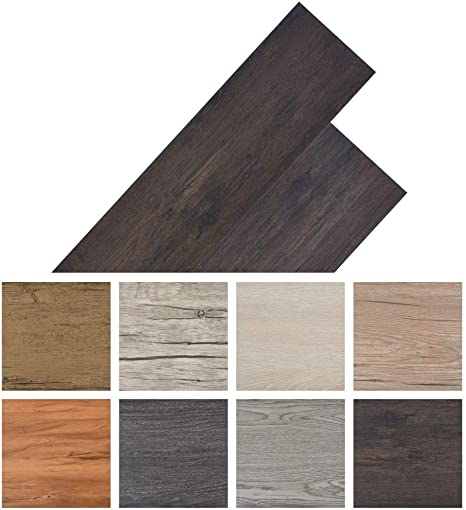 Tidyard Pvc Laminate Floorboards 5 26 M2 Flooring Heat Insulation And Sound Absorbing Durable And Non Slip For Kitchen Hallway Or Living Room And Bedroom 6 Colours Amazon De Kuche Haushalt