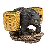 Slifka Sales Co. Bear Double Wine Bottle Holder 13 x 9 x 13 Inch Resin Crafted Tabletop Figurine