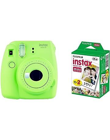 f848fbaf3b Fujifilm Instax Mini 9 - Cámara instantánea, Cámara con 2x10 películas,  Verde
