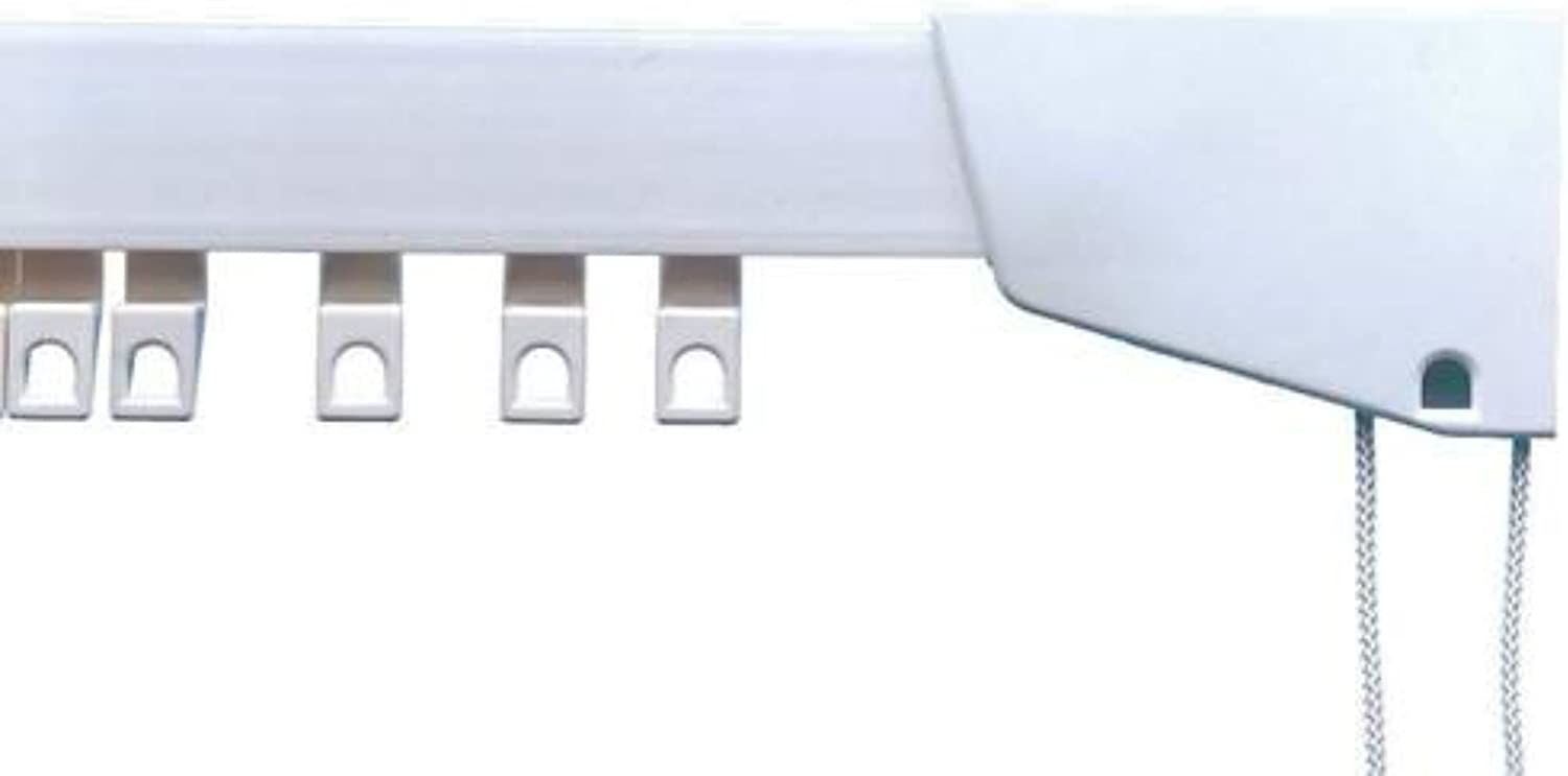 Integra® Premier Plastic CORDED Curtain Track, White PVC, with FREE Curtain Hooks … (250cm)