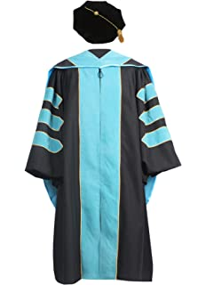 ac5c0be550 Amazon.com  GraduationMall Deluxe Doctoral Graduation Gown for ...