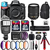 Holiday Saving Bundle for D610 DSLR Camera + 18-140mm VR Lens + Battery Grip + 64GB Class 10 Memory Card + 6PC Graduated Color Filer Set + 2yr Extended Warranty + 32GB - International Version