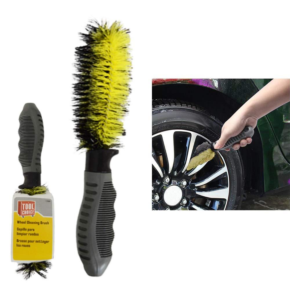Amazon.com : 4 Pc Cleaning Brush Auto Detailing Wheel Clean Rims Soft Bristle Car Tire 10.5