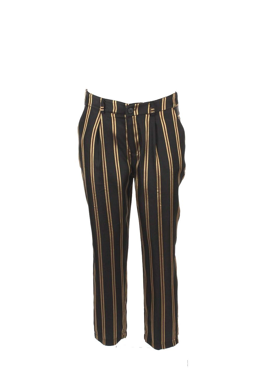 BERNA Pantalone Donna 46 Nero/Oro Be-76098 Autunno Inverno 2018/19