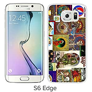 Beautiful Designed Cover Case For Samsung Galaxy S6 Edge With Grateful Dead White Phone Case