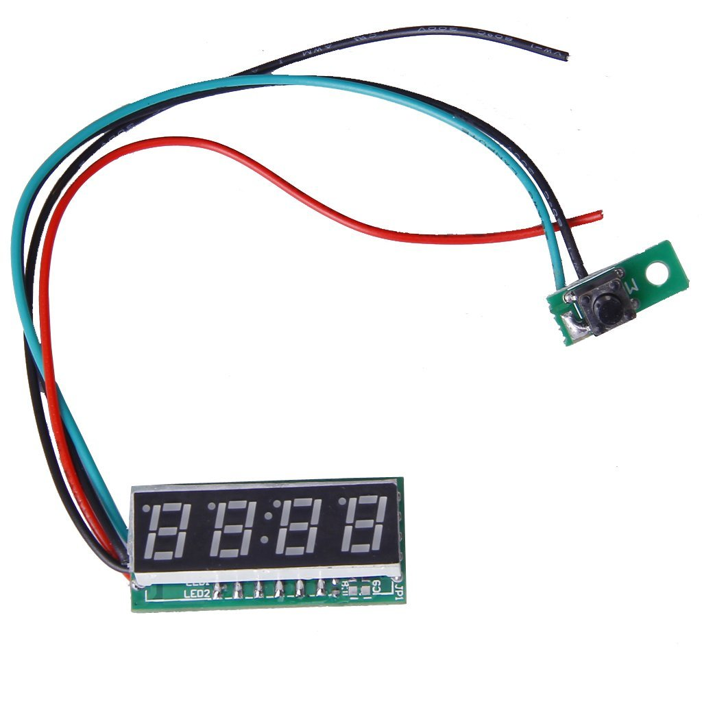 Car Clock - SODIAL(R)Adjustable Digital 24 Hours Car Motorcycle Clock DC 7-30V 038150