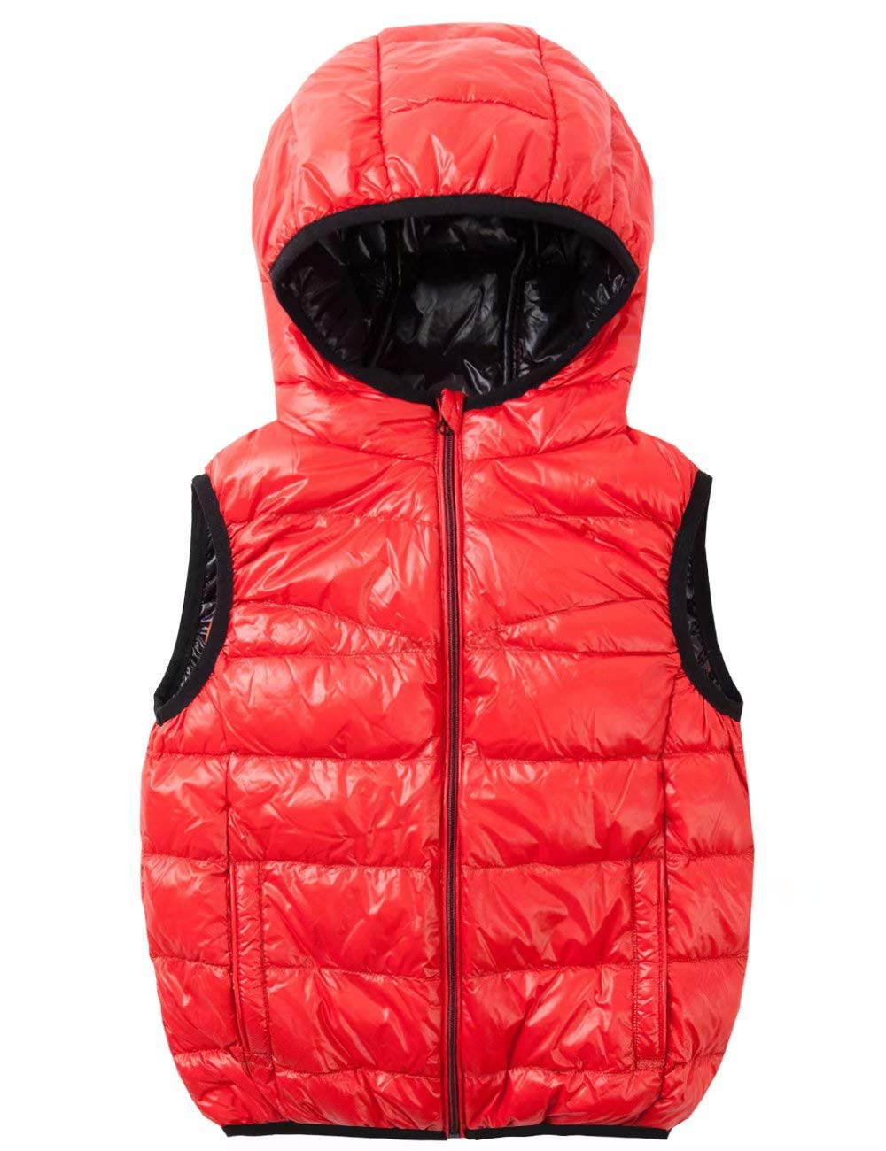Spring& Gege Kids Lightweight Quilted Packable Hooded Puffer Down Vest