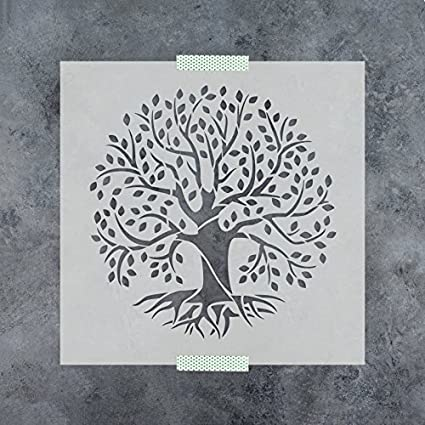 amazon com tree of life stencil template reusable stencil with