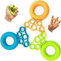 Ejercitador de Dedos, ejercicio de mano empuñadura extensor de dedo fortalecedora fuerza bandas de resistencia camilla…