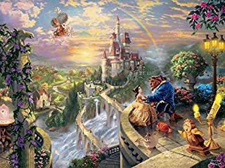 "product image for Thomas Kinkade The Disney Dreams Collection: Beauty and The Beast Falling in Love Puzzle, 750 Pieces, 24"" X 18"""