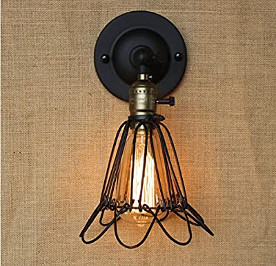 Industrial Edison Simplicity Wall Mount Light Sconce Vintage Style Industrial Opening and Closing Cage Lamp