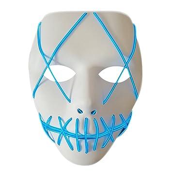 gaeruite Halloween LED Maske, LED Leuchten Maske EL Draht Halloween ...