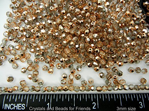 3 mm fire polished crystals - 9