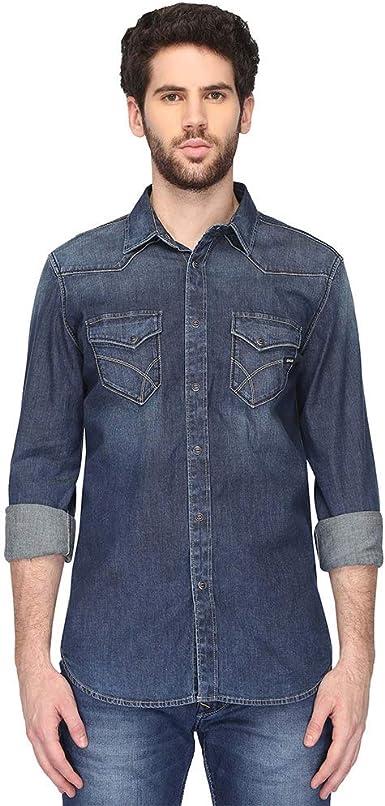 GAS - Camisa casual - para hombre: Amazon.es: Ropa y accesorios