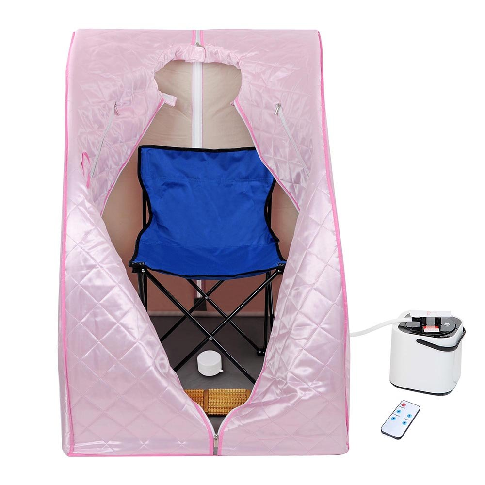 AW Portable Large Chair Pink Personal Therapeutic Steam Sauna SPA Slim Detox Weight Loss Home by AW