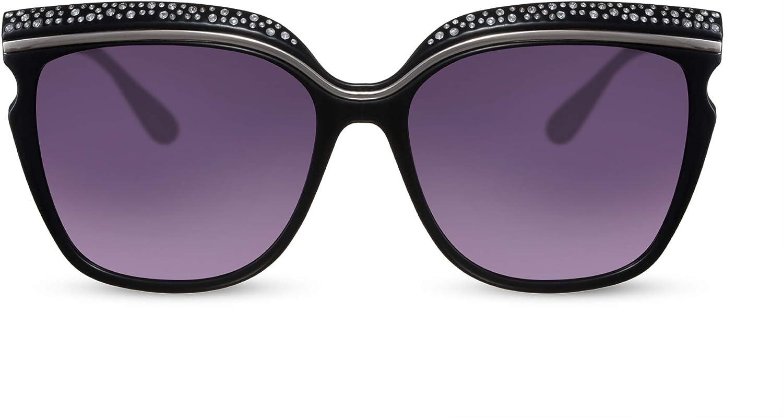 Cheapass Gafas de Sol Mujer parama Mariposa con Pequeños Diamantes
