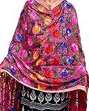 Red Bird Fashion - Women's Flower Designed Phulkari Border Dupatta for women & Girls