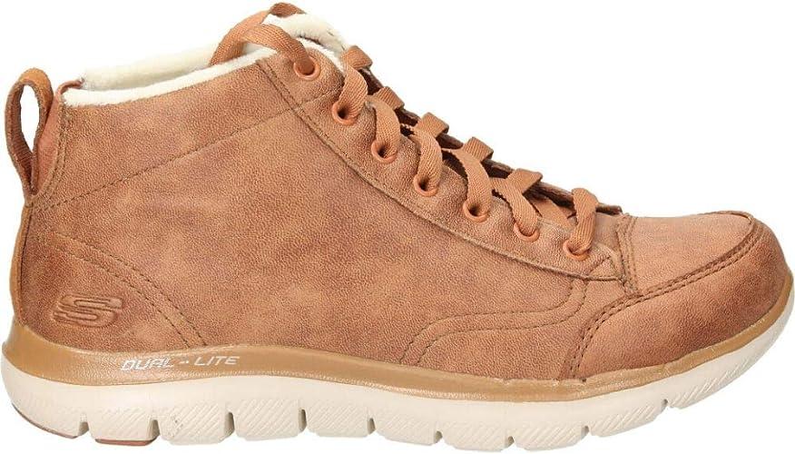áspero Shinkan Destructivo  Skechers 12892 Women's Flex Appeal 2.0 Warm Wishes High Top Sneaker Boots -  Brown - 41 EU: Amazon.de: Schuhe & Handtaschen