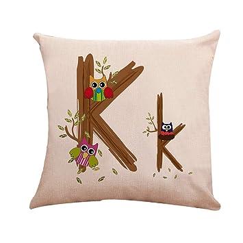 Amazon.com: Aoesila Funda de almohada de lino para sofá o ...