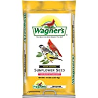 Wagner's 76025 Four Season Black Oil Sunflower Seed Wild Bird Food, 10-Pound Bag