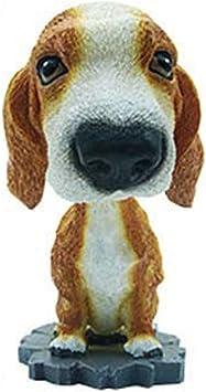 Hunpta Animal Swinging Dancer Toy Car Decor Nodding Resin Puppy Dog Car Decor Toy B