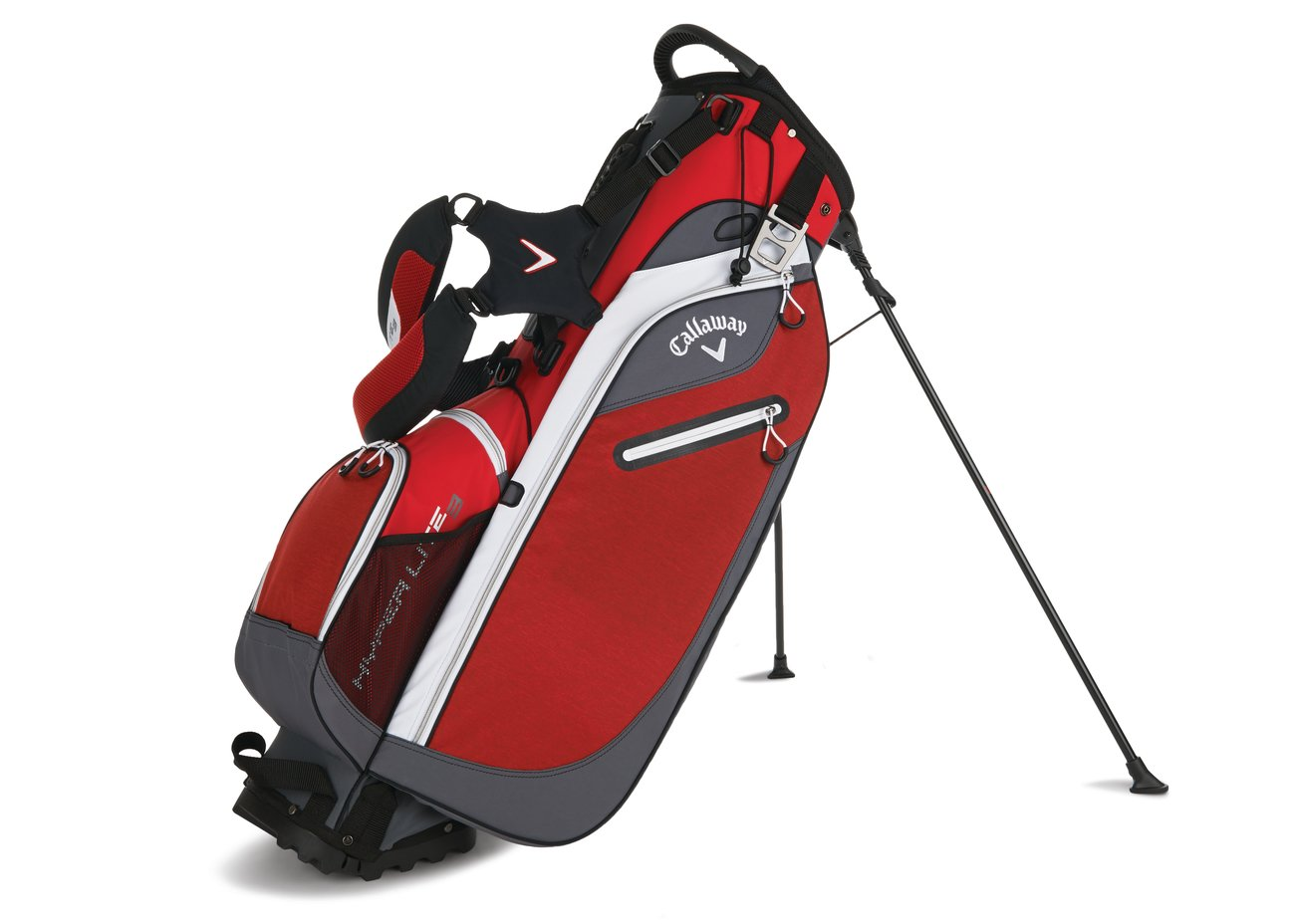 Amazon com callaway 2016 hyper lite 3 stand bag red charcoal white sports outdoors