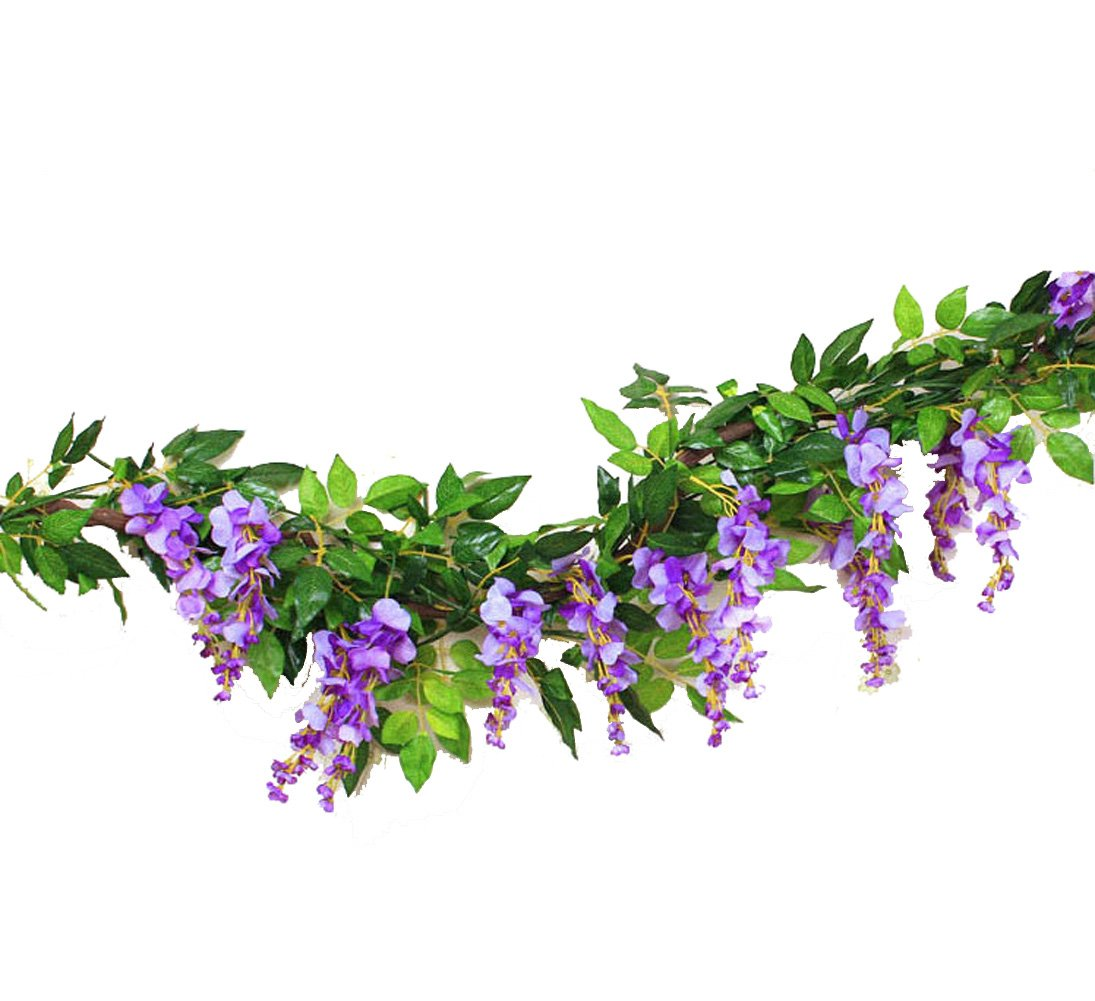 Sunrisee-2-Pcs-Artificial-Flowers-66ft-Silk-Wisteria-Ivy-Vine-Hanging-Flower-Greenery-Garland-for-Wedding-Party-Home-Garden-Wall-Decoration