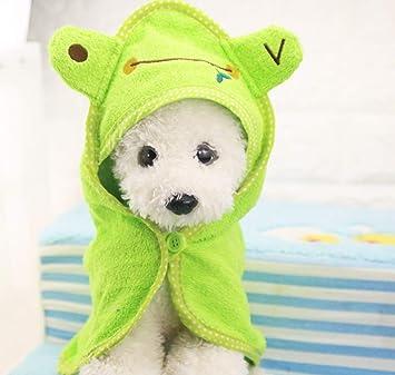 Perro de Cachorro Toalla de Secado Toalla para Perros Albornoz Ducha Absorbente Perro Baño Toallas Mantas Limpieza Producto Mascotas, S: Amazon.es: ...