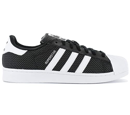 11a5a9327 adidas Men s Superstar Mesh Sneakers Black  Amazon.co.uk  Shoes   Bags