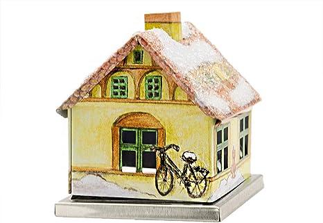 Knox Räucherhaus Aus Metall Stadthaus Im Winter Für Räucherkerzen Der Größe M Küche Haushalt
