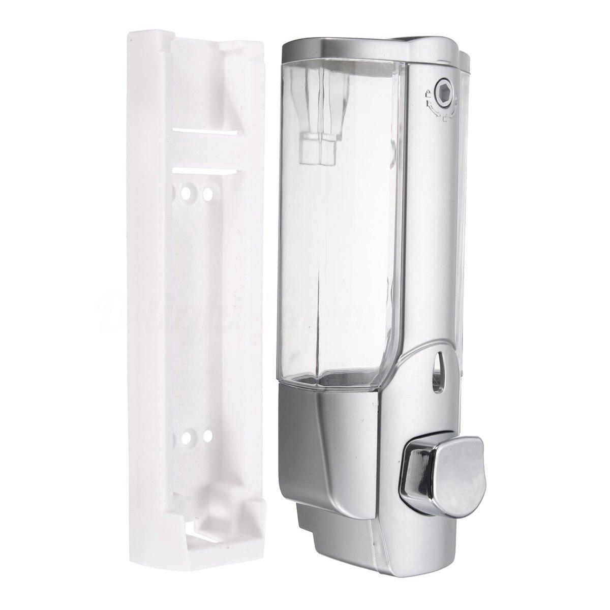 TOOGOO Pompa per lozione liquida per doccia con bagno disinfettante per doccia e sapone (argento)