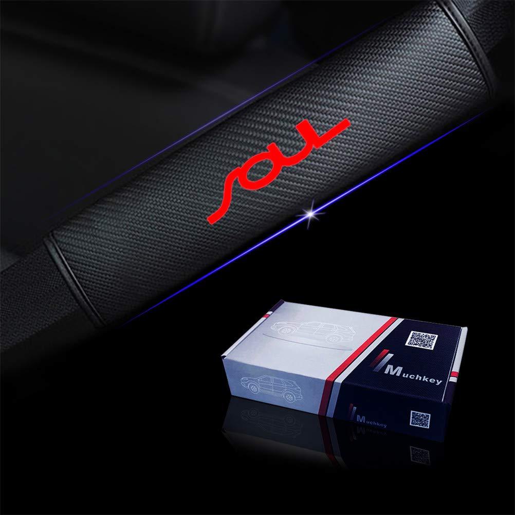 Progettato per Soul 2 pezzi Imbottiture cinture di sicurezza viaggio fibra di carbonio con Adesivi Riflettenti