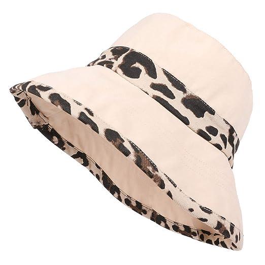 b958f54a Summer Hat Women Mens Bucket Hat Flat Sun Visor Fishing Fisherman Bob Hat  Chapeu Femmes Leopard Basin Caps Black at Amazon Men's Clothing store: