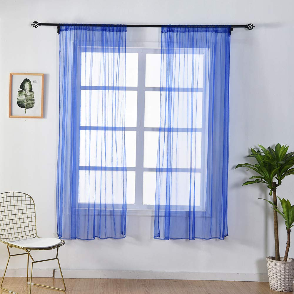 Window Curtain Drapes Scarf Decor,Quaanti Clearance Sale! 1 Panel Window Curtain Leaves Sheer Curtain Tulle Window Treatment Voile Drape Valance Fabric for Bedroom&Living Room& Kitchen (B)