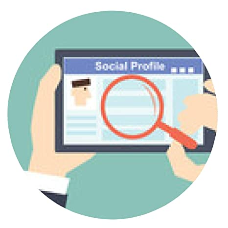 alfombrilla de ratón Buscar -Tablet perfil social con la red social - ronda - 20cm